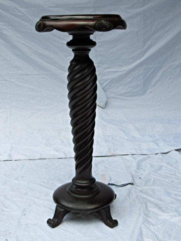 B.J. Co. Jamestown, NY Mahogany Pedestal Table - 2