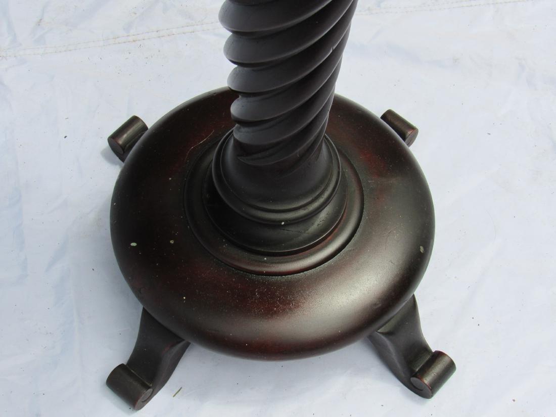 B.J. Co. Jamestown, NY Mahogany Pedestal Table - 3