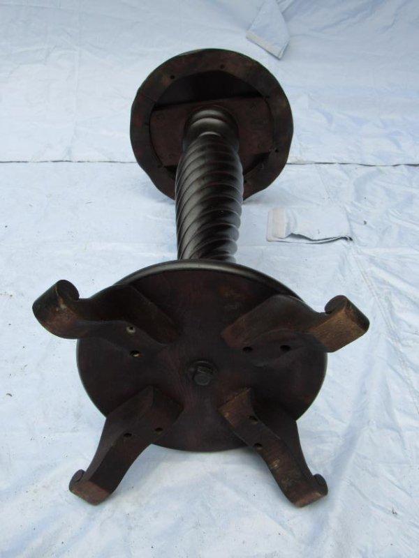 B.J. Co. Jamestown, NY Mahogany Pedestal Table - 7