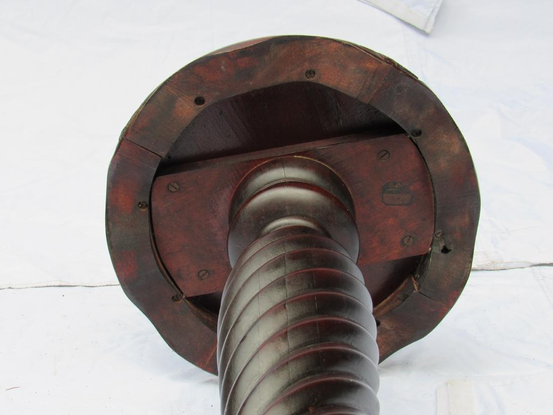 B.J. Co. Jamestown, NY Mahogany Pedestal Table - 9