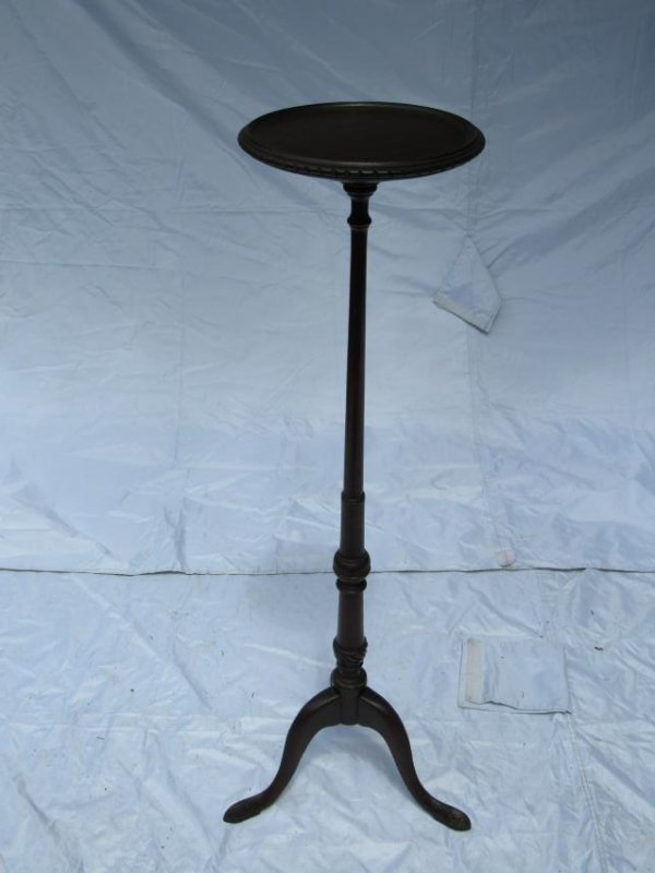 Candle Stick Round Wooden Plant Stand - 2
