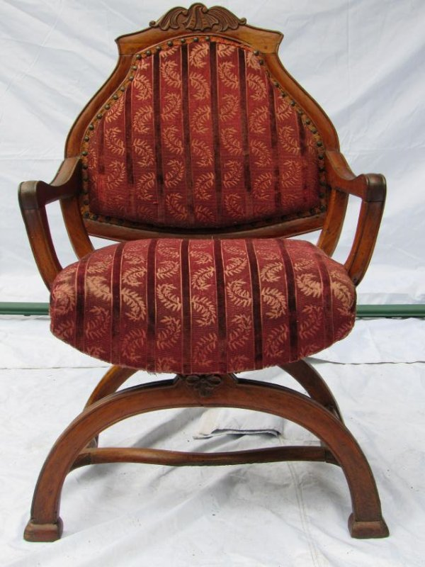 Arched Leg Arm Chair