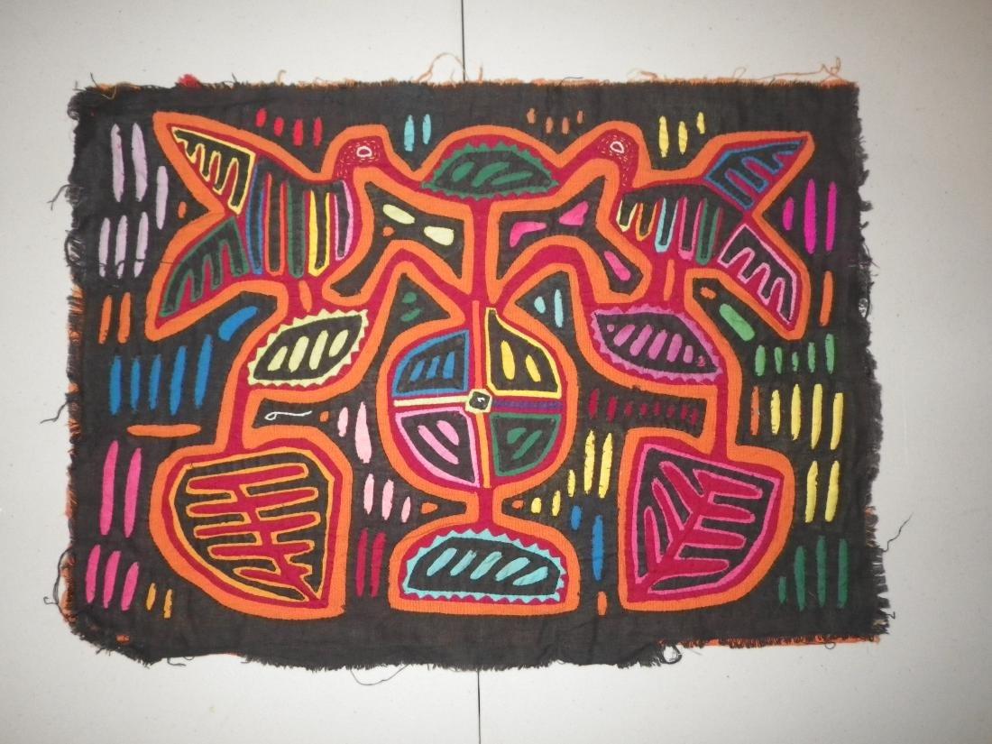 Black Background Colorful Native American Mola