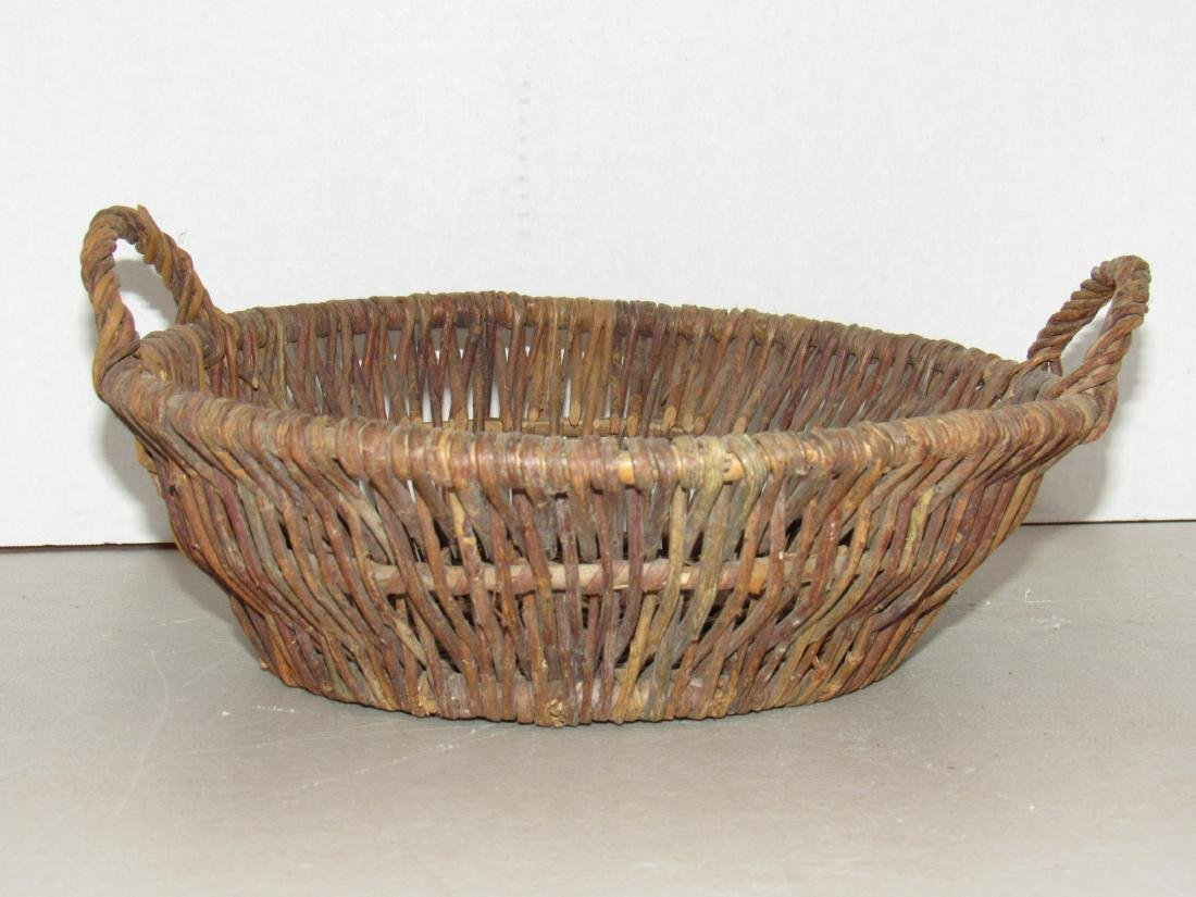 Basket with two handles