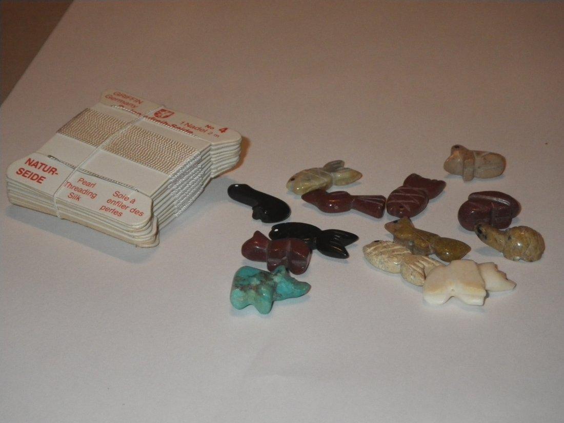 Zuni Fetish 13 Pieces & 10 Packs Silk Thread - 2