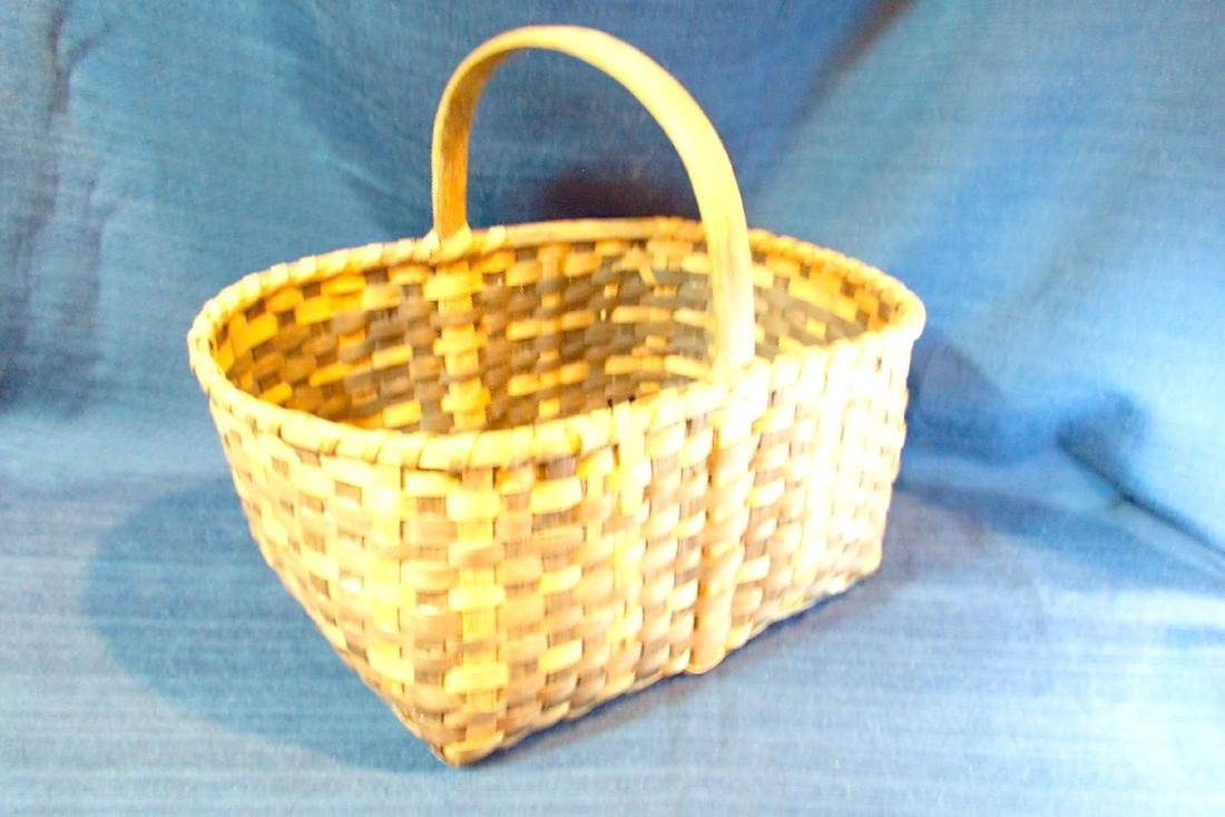 Hand-Made Basket with Handle