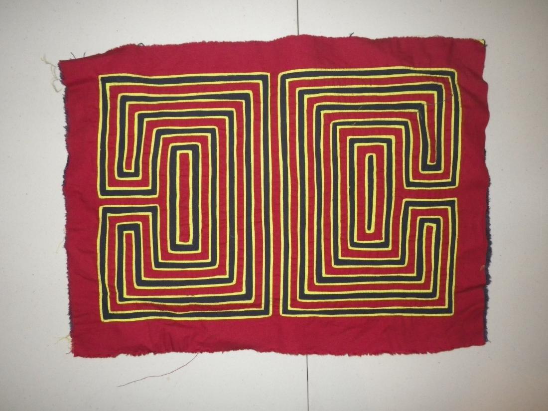 Dark Red with Maze Native American Mola