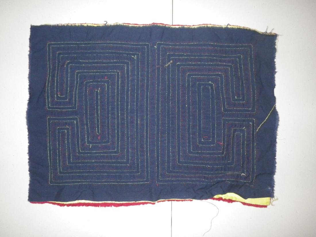 Dark Red with Maze Native American Mola - 2