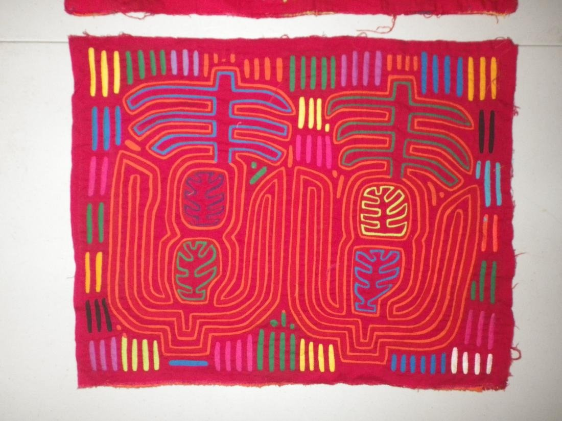 Two (2) Red Native American Molas - 2