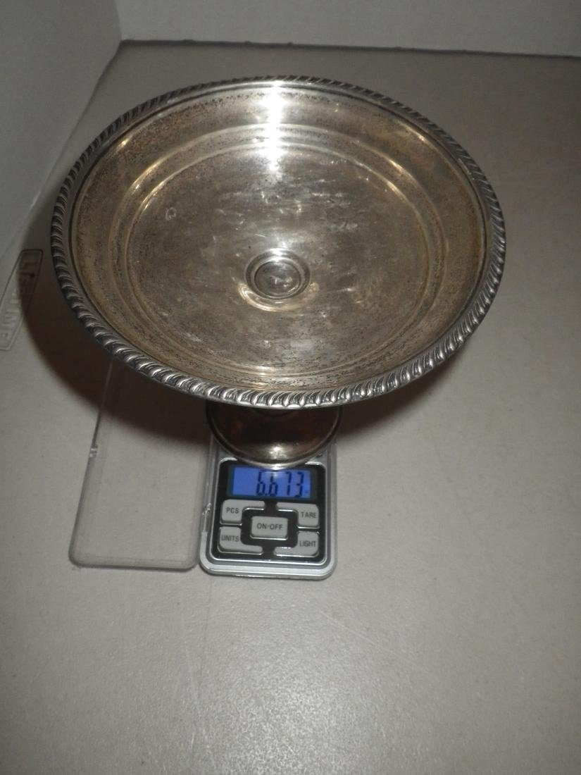 Sterling Silver Compote Candy Dish - Weighted - 9
