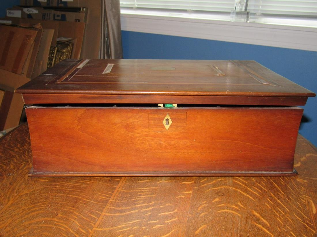 Antique Folding Lap Writing Desk - 9