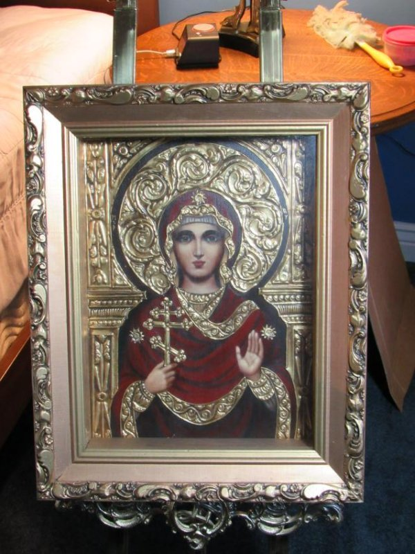 "Icon Shadow Box ""The Holy Virgin of the Cross"" by Ivan"