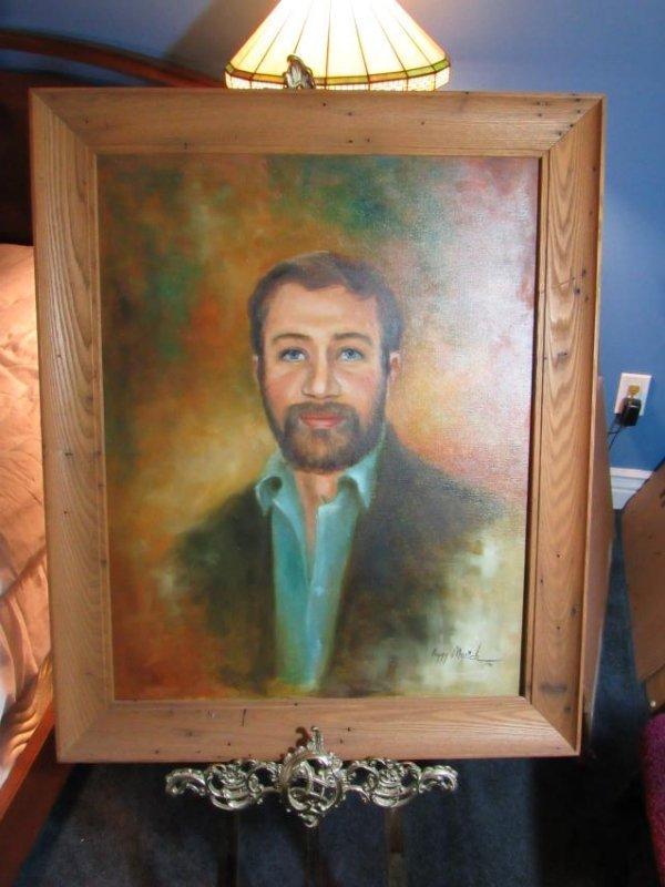 Man with Beard Portrait - Oil on Canvas - Peggy Myrick