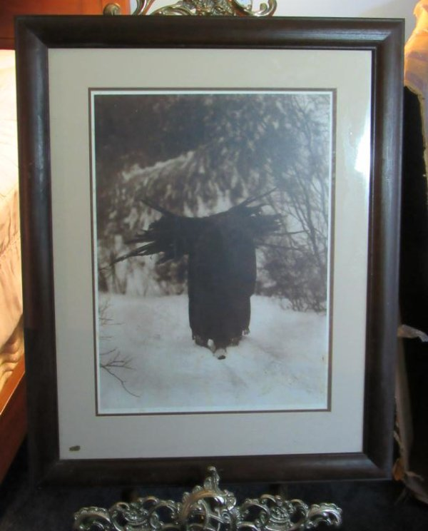 """""""A Heavy Load"""" Sioux Edward S. Curtis Dated & Signed"""