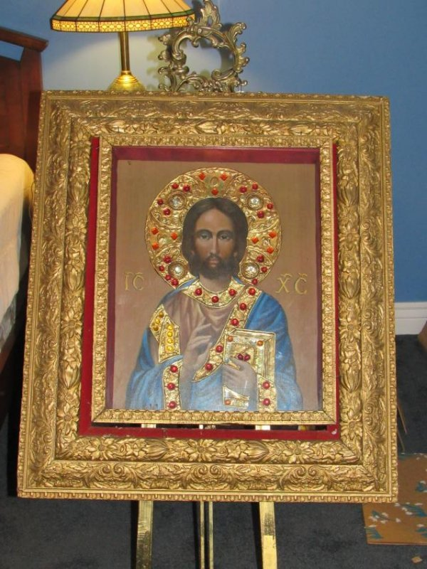 "Icon - Jeweled ""Lord Jesus Christ"" - Ivan Nieperov"