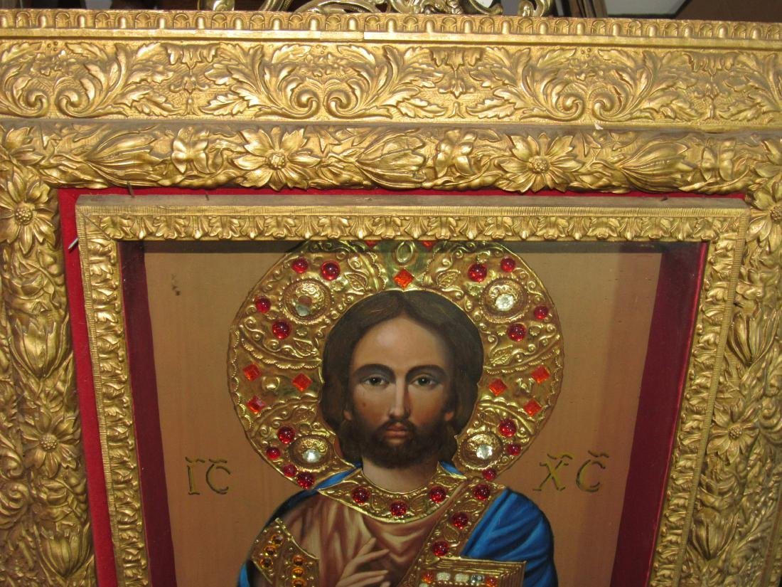 "Icon - Jeweled ""Lord Jesus Christ"" - Ivan Nieperov - 3"