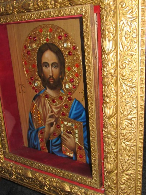 "Icon - Jeweled ""Lord Jesus Christ"" - Ivan Nieperov - 6"