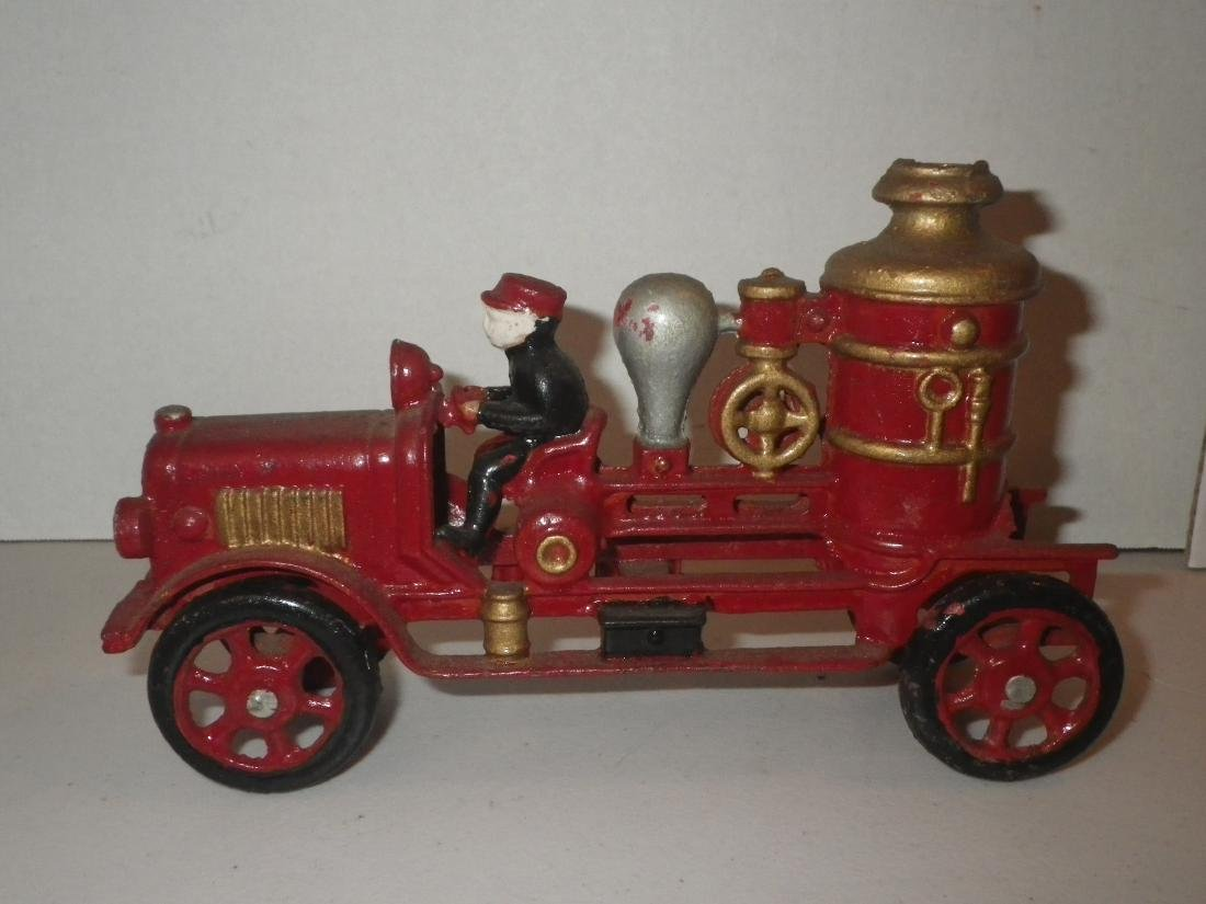 Cast Iron Steam Fire Engine Pumper Truck