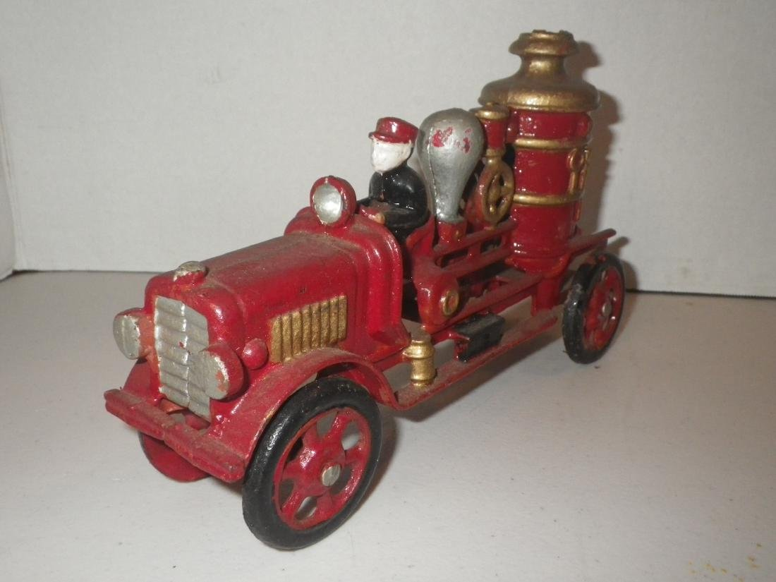 Cast Iron Steam Fire Engine Pumper Truck - 2