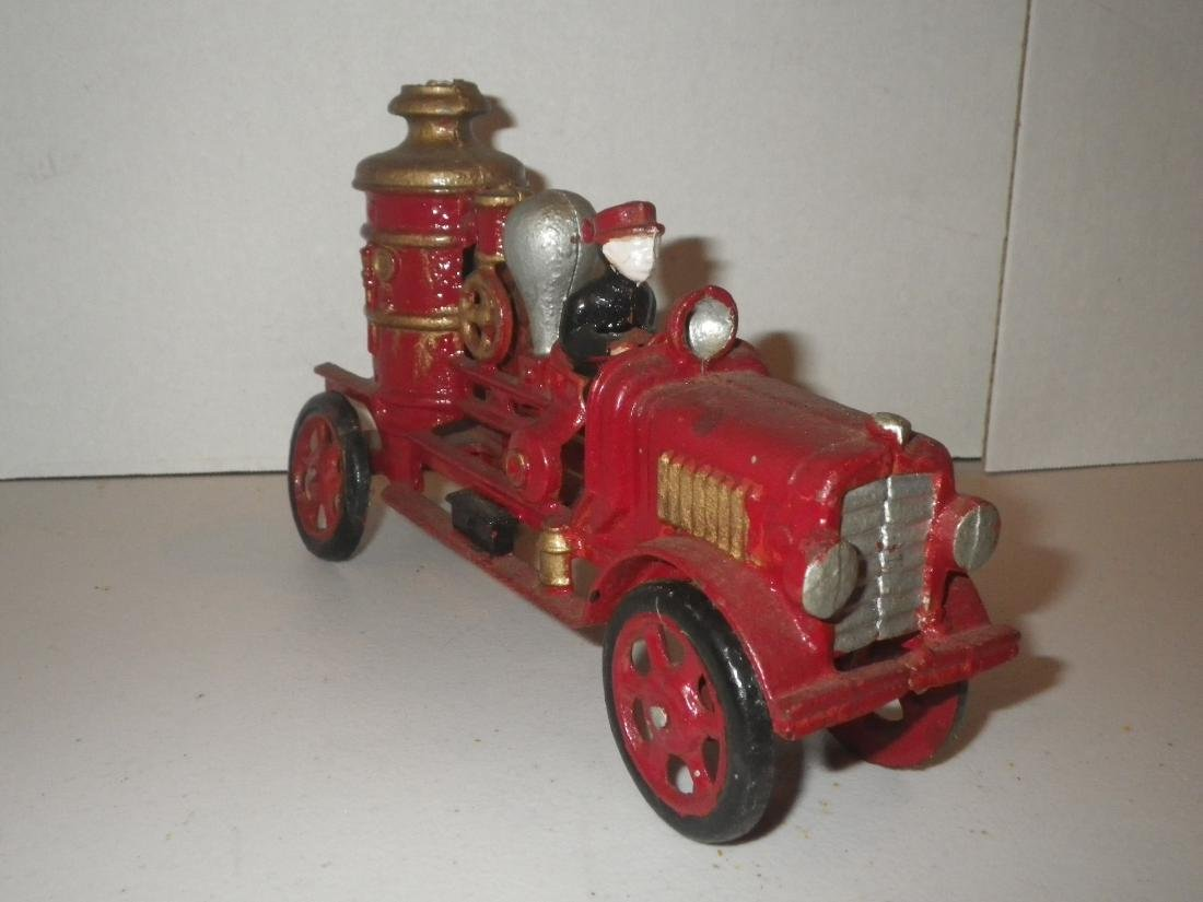 Cast Iron Steam Fire Engine Pumper Truck - 3