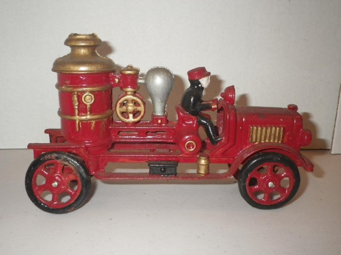 Cast Iron Steam Fire Engine Pumper Truck - 4