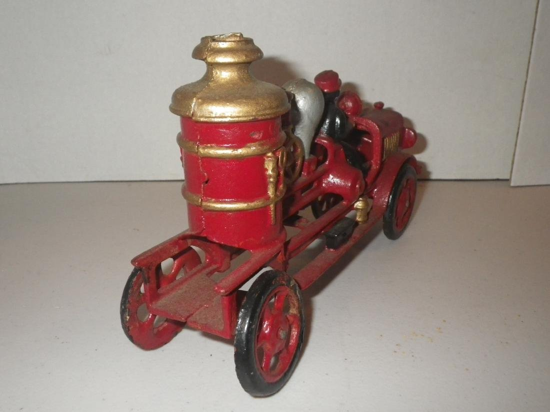 Cast Iron Steam Fire Engine Pumper Truck - 5