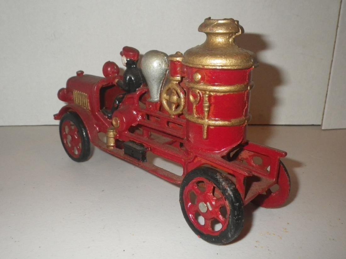 Cast Iron Steam Fire Engine Pumper Truck - 6