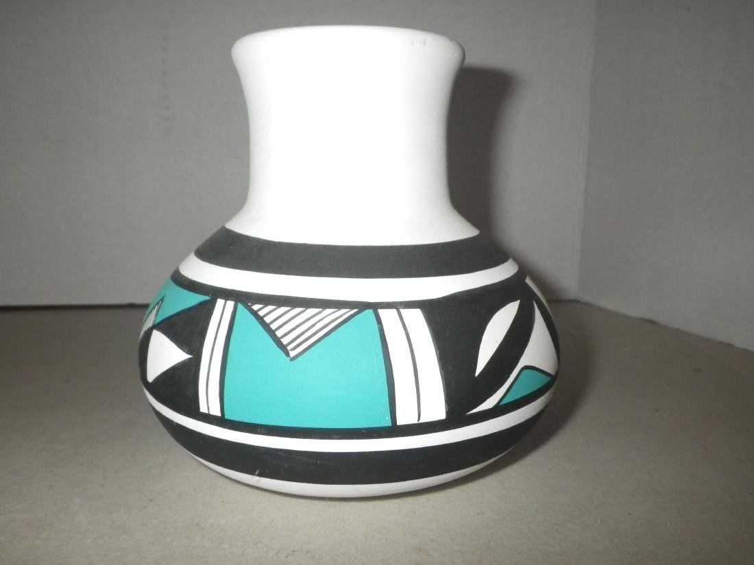 R. Galvan signed pottery vase