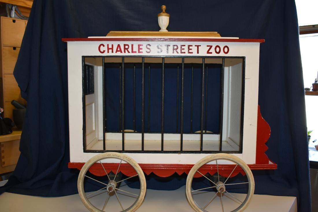 Custom-Made Circus Wagon Pet Enclosure