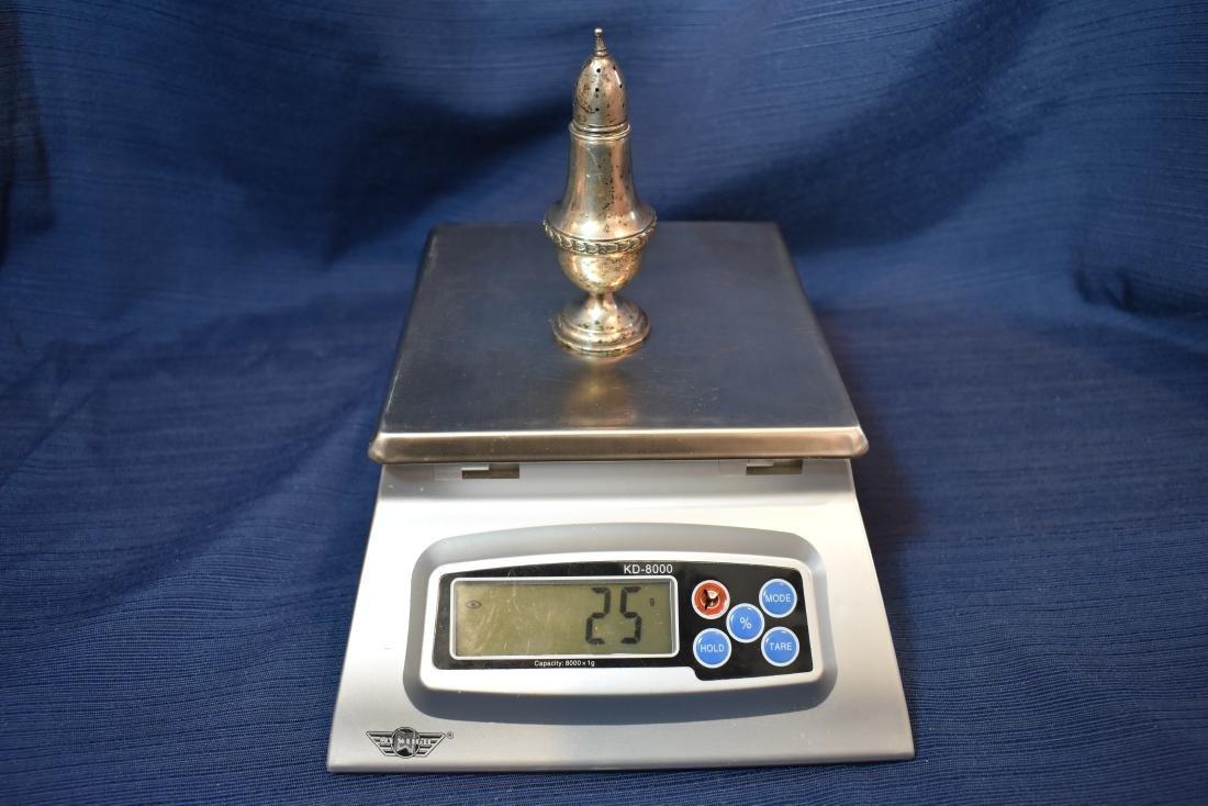 Vintage Sterling Silver Salt Shaker - KMD Hallmark - 8