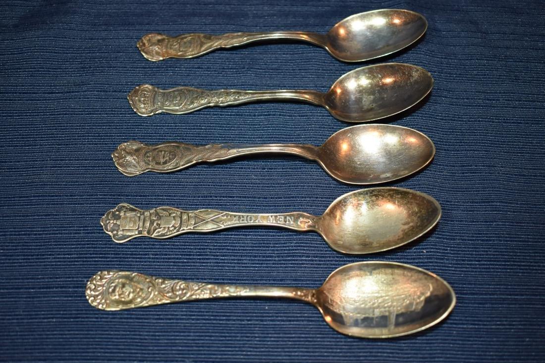 Five (5)  Souvenir Teaspoons - 2