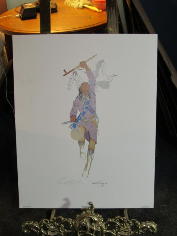 Signed Native American Dancer by Enoch Kelly Haney
