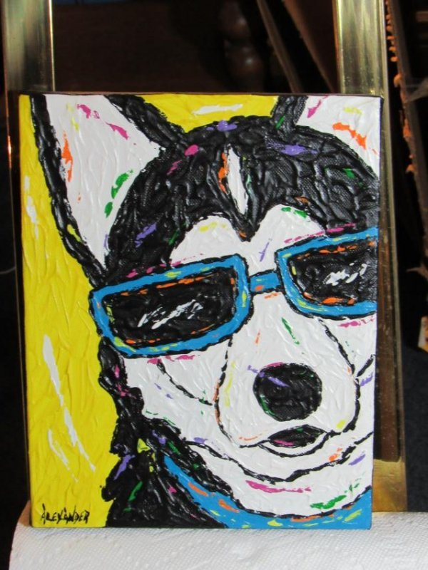 Dog Wearing Sunglasses by Alexander