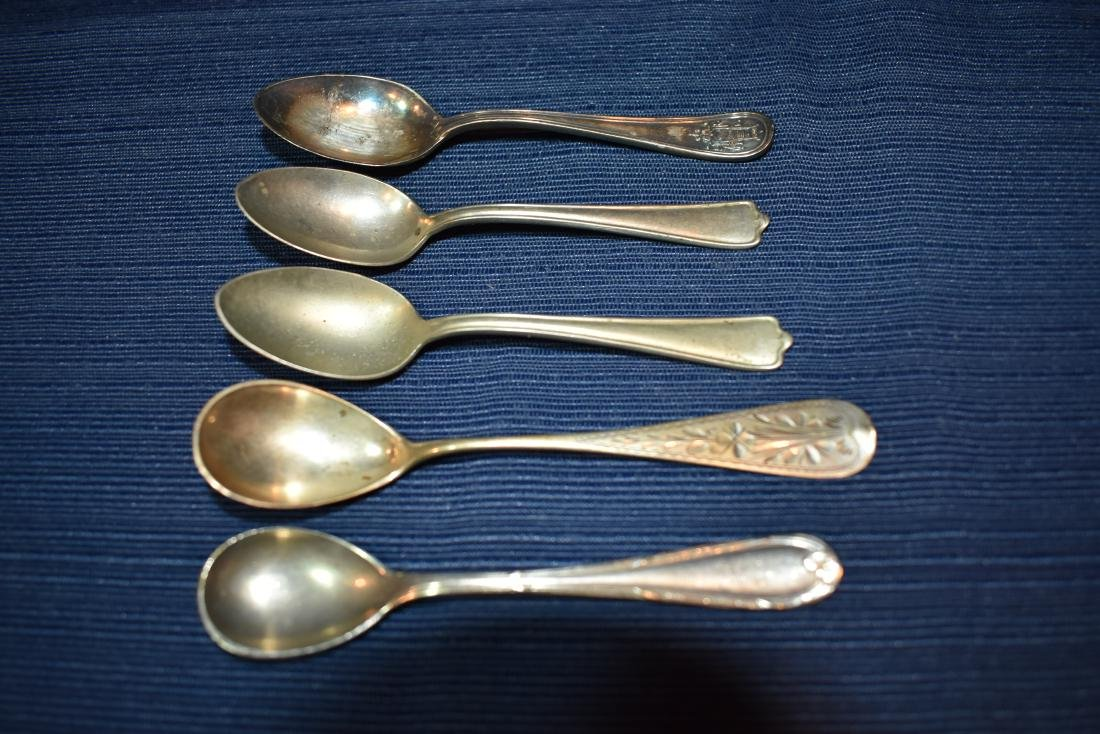 Five (5) Assorted Antique Demitasse Spoons