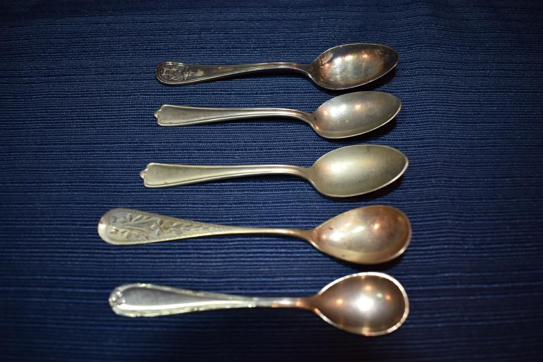 Five (5) Assorted Antique Demitasse Spoons - 2