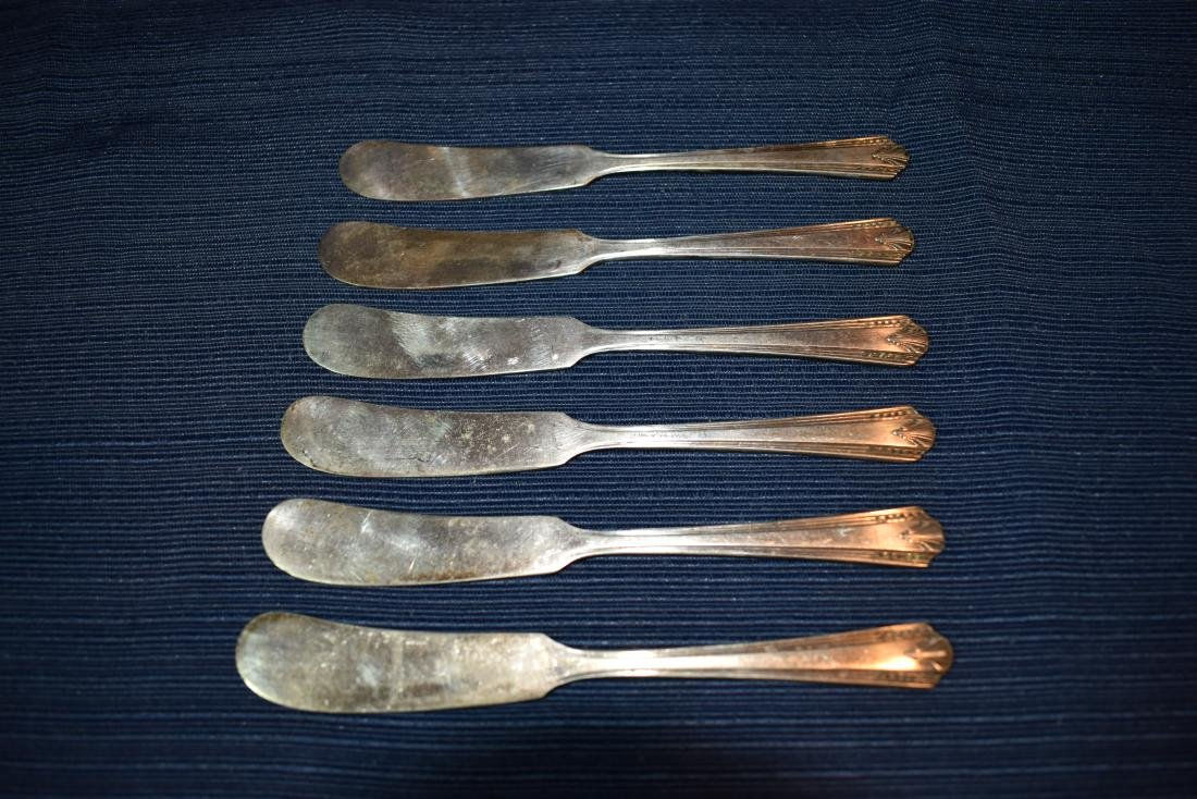 Six (6) Butter Knives - Silverplate - Vernon