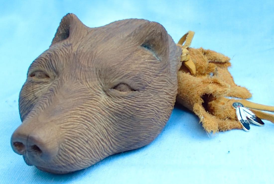 Hornbuckle 97 Wolf Wood Carving - 5