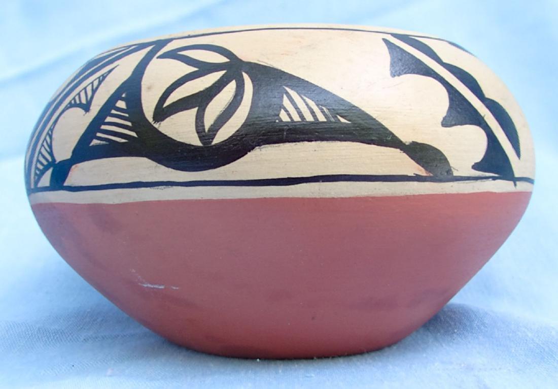Signed Pottery Clay Bowl - Dorela Tosa Jemez - 4