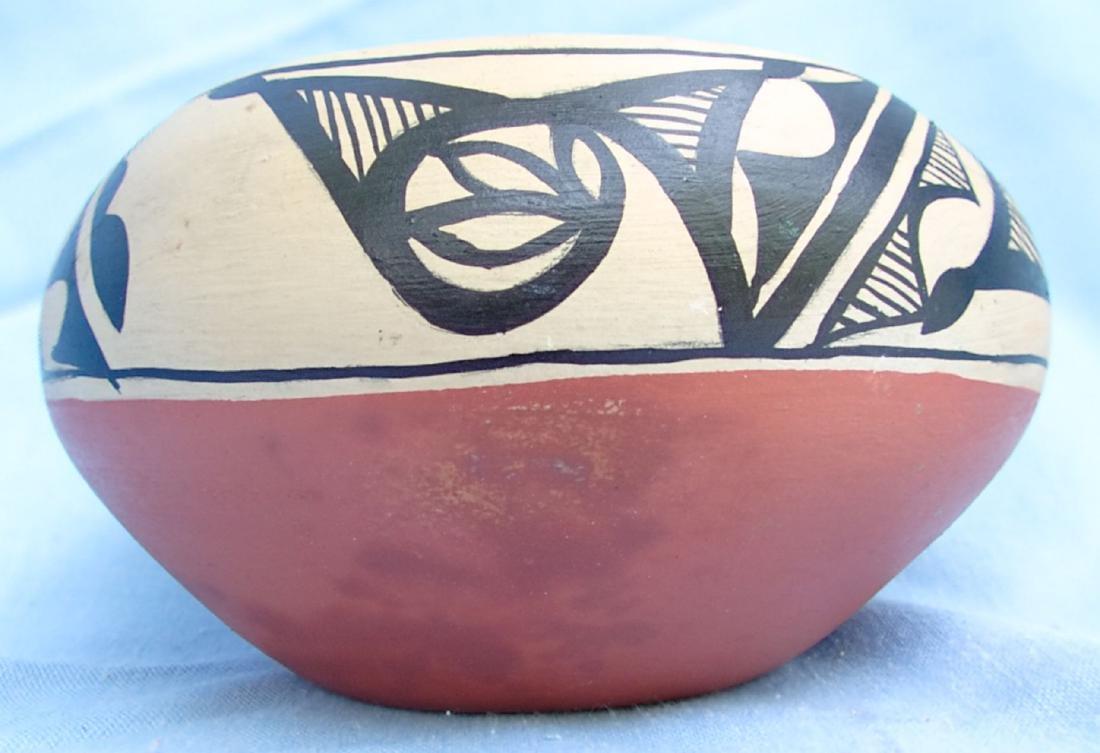 Signed Pottery Clay Bowl - Dorela Tosa Jemez - 5