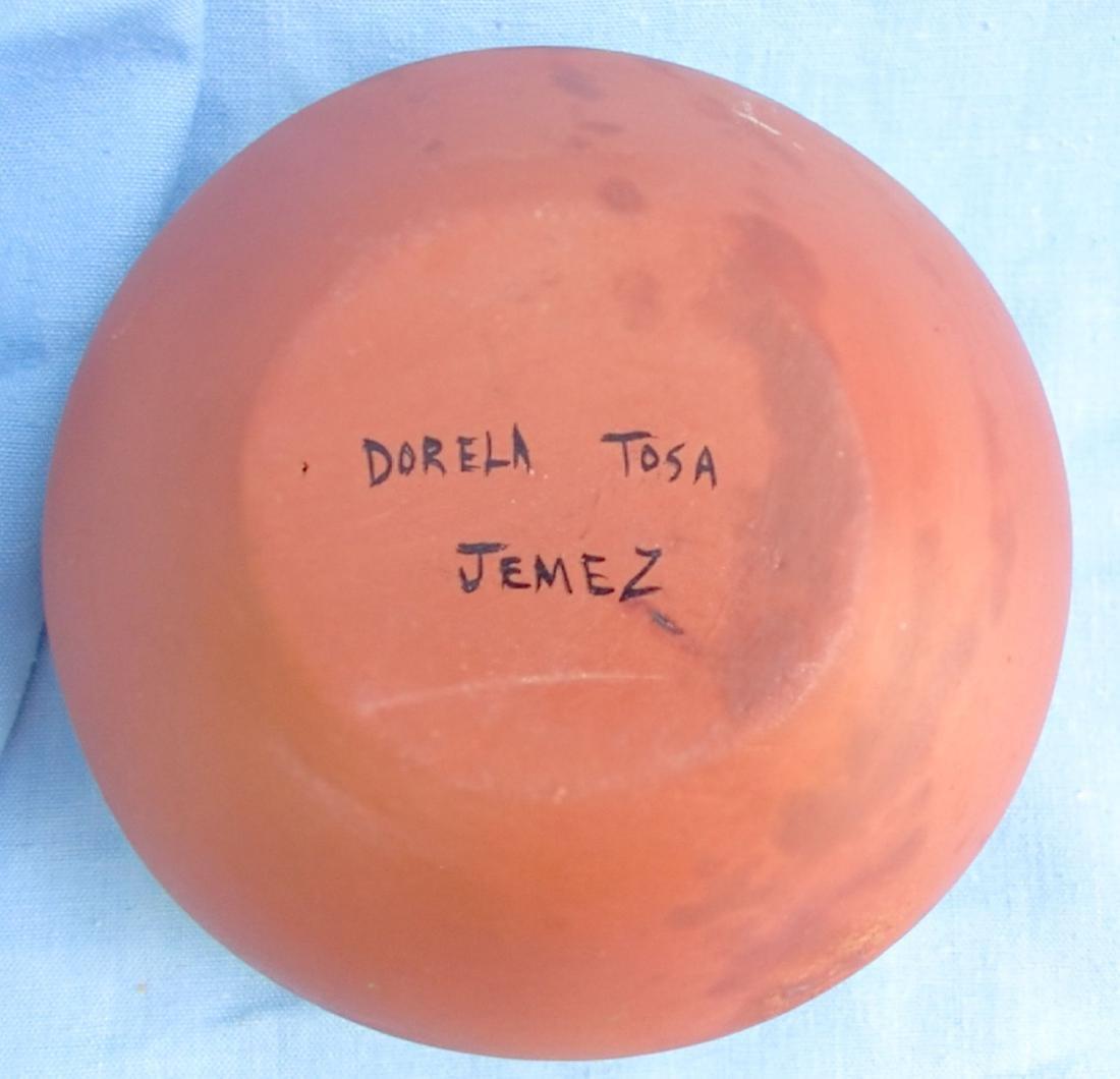 Signed Pottery Clay Bowl - Dorela Tosa Jemez - 8