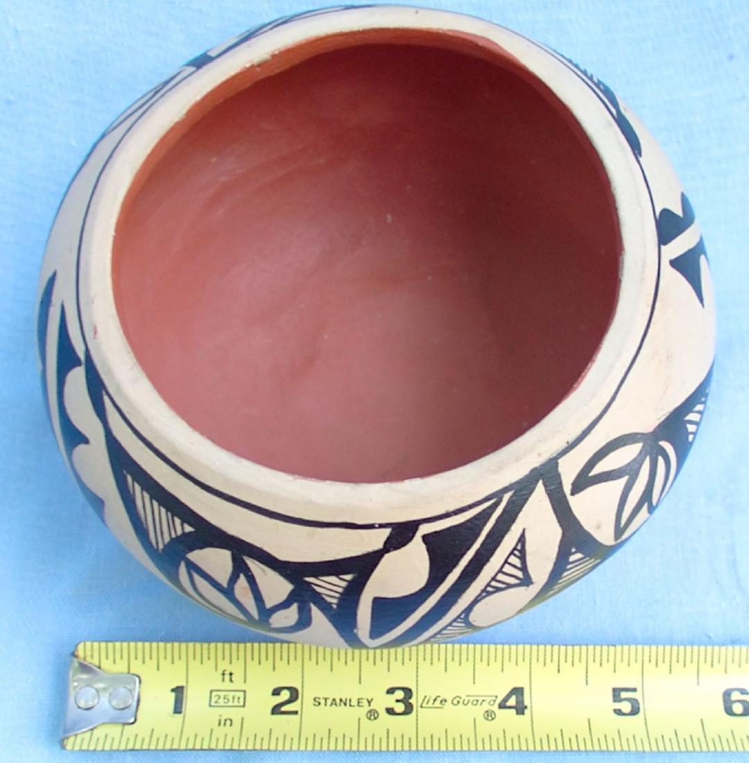 Signed Pottery Clay Bowl - Dorela Tosa Jemez - 9