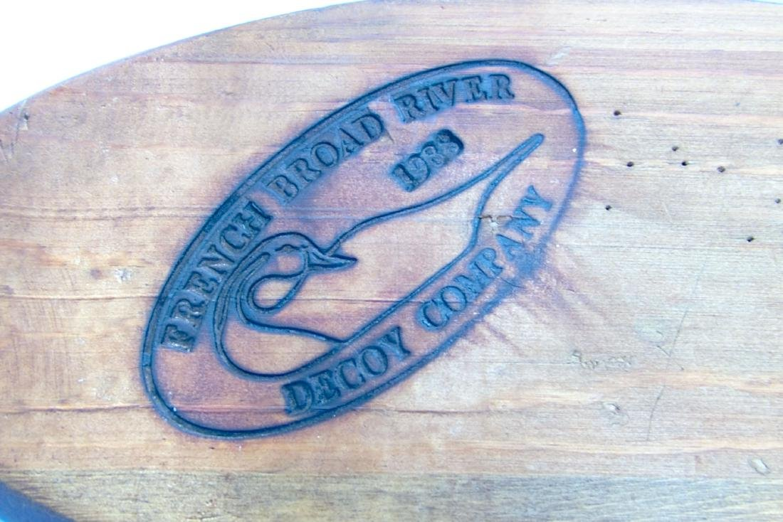 French Broad River Decoy Company Wood Carved Shore Bird - 8