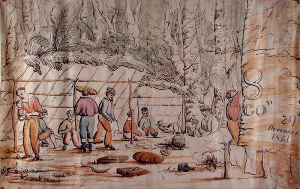5: Australian School. Gold Prospectors in Camp, Decembe