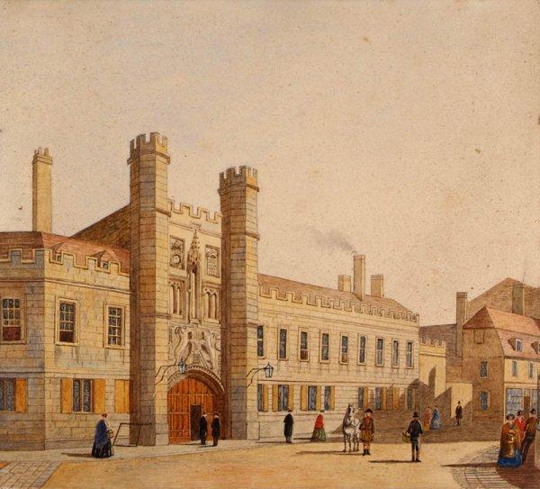 10: Cambridge. Christ's College, Cambridge, by F.F.T. (