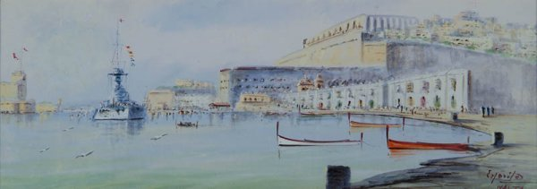 17: D'Esposito (Vincenzo, 1886-1946). Panoramic view of