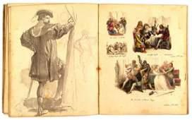 156: Gilbert (Sir John, R. A., P.R.W.S., 1817-97). A pa