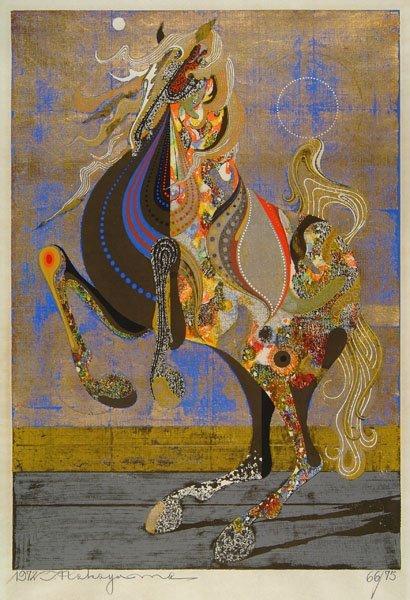 383: Nakayama (Tadashi, born 1927). Dancing Horse, 1972