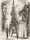 386: Picasso (Pablo, 1881-1973). 'Le peintre et son mod