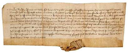 361B Staffordshire Fine medieval document from the re