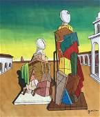 Giorgio DE CHIRICO (1888-1978) Gouache on paper